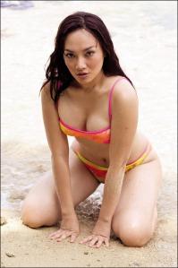model bikini